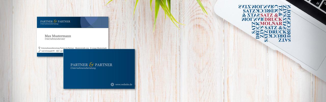 Visitenkarten Druckerei Visitenkartendruck Satz Druck